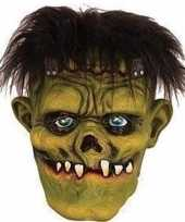 Carnavalskleding halloween groen eng halloween frankenstein masker latex roosendaal