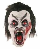 Carnavalskleding halloween halloween dracula masker latex roosendaal