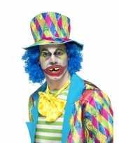 Carnavalskleding halloween horror clown gebitje volwassenen roosendaal