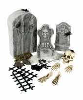 Carnavalskleding halloween kerkhof set grafstenen roosendaal