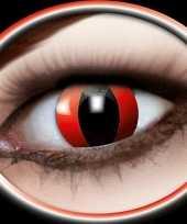 Carnavalskleding halloween party lenzen rode katten ogen roosendaal