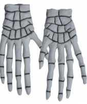 Carnavalskleding halloween skelet handschoenen roosendaal