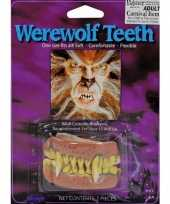 Carnavalskleding halloween weerwolf gebitje roosendaal
