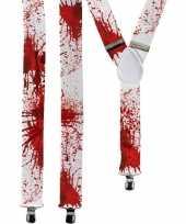 Carnavalskleding halloween witte bretels bloedvlekken volwassenen roosendaal