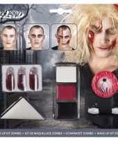 Carnavalskleding halloween zombie schminkset bloed capsules roosendaal