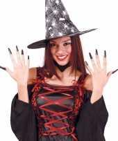 Carnavalskleding halloween zwarte lange kunstnagels roosendaal
