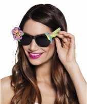 Carnavalskleding hawaii zonnebril zwart roosendaal