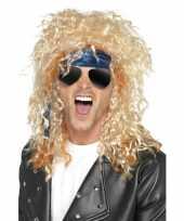 Carnavalskleding heavy metal rocker verkleed set heren roosendaal