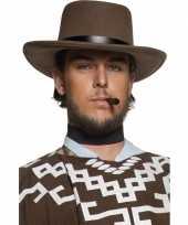 Carnavalskleding heren cowboy hoed bruin roosendaal