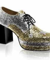 Carnavalskleding heren glitter rockschoenen zilver goud roosendaal