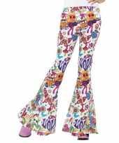 Carnavalskleding hippie broek wit love dames roosendaal