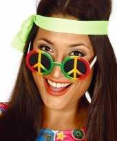 Carnavalskleding hippie flower power peace verkleed bril roosendaal