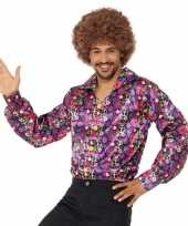 Carnavalskleding hippie peace overhemd heren roosendaal