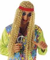 Carnavalskleding hippie pruik hoofdband roosendaal
