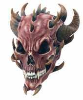 Carnavalskleding horror duivel masker rubber roosendaal