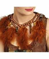 Carnavalskleding indianen ketting veren roosendaal