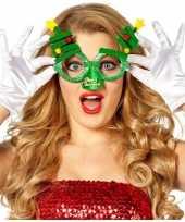 Carnavalskleding kerst feest verkleed bril groen kerstbomen volwassenen roosendaal
