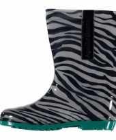 Carnavalskleding kinder regenlaarzen zebra motief groen roosendaal
