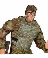 Carnavalskleding kogelvrij camouflage vest roosendaal