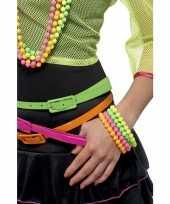 Carnavalskleding kralen armbanden neon kleuren roosendaal