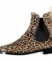 Carnavalskleding lage dames regenlaarzen luipaard roosendaal