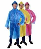 Carnavalskleding lange unisex regenjas blauw roosendaal