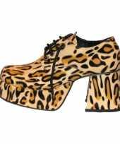 Carnavalskleding luipaard print plateau schoenen heren roosendaal