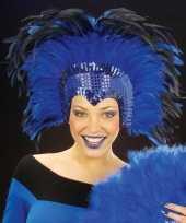 Carnavalskleding luxe hoofdtooi blauw roosendaal