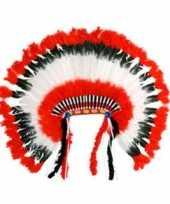 Carnavalskleding luxe indianen hoofdtooi roosendaal