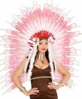 Carnavalskleding luxe roze indianen tooi roosendaal