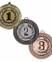 Carnavalskleding medailles set goud zilver brons roosendaal