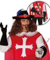Carnavalskleding musketiers handschoenen volwassenen roosendaal
