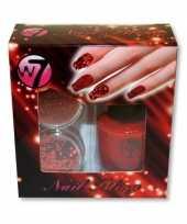 Carnavalskleding nagellak kit rood glitters roosendaal