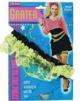 Carnavalskleding neon groene kousenband roosendaal