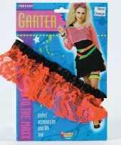 Carnavalskleding neon oranje kousenband dames roosendaal