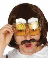 Carnavalskleding oktoberfest bier pullen verkleed bril volwassenen roosendaal