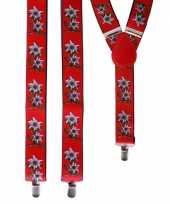 Carnavalskleding oktoberfest rode edelweiss bretels bloemen roosendaal