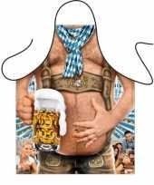 Carnavalskleding oktoberfest tiroler bierbuik schort roosendaal