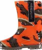 Carnavalskleding oranje jongens regenlaarzen krokodillen roosendaal