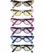 Carnavalskleding ovale glimmende brillen roosendaal