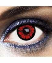 Carnavalskleding party dag kleurlenzen vampier rood roosendaal