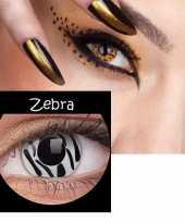 Carnavalskleding party lenzen zebra print roosendaal