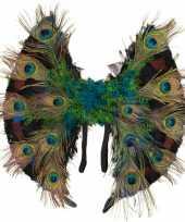 Carnavalskleding pauwenveren vleugels roosendaal