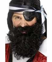 Carnavalskleding piraten baard zwart gekruld roosendaal
