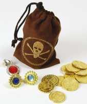 Carnavalskleding piraten buidel sieraden geld roosendaal