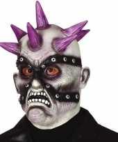 Carnavalskleding punk zombie horror masker latex roosendaal