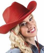 Carnavalskleding rode cowboyhoed vilt roosendaal