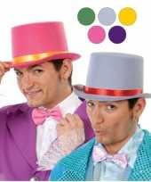 Carnavalskleding rode hoge hoed vilt volwassenen roosendaal