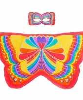 Carnavalskleding rode regenboogvlinder verkleedset meisjes roosendaal
