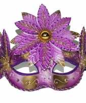Carnavalskleding roze fleurig oogmasker roosendaal
